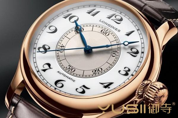 浪琴玫瑰金威姆斯秒针设定手表回收折扣
