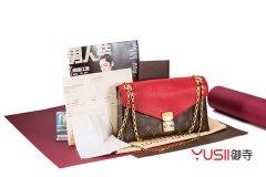 LV Pallas Chain系列M41201老花帆布拼红色牛皮手袋回收多少钱?